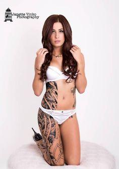 High contrast black and grey tattoo. Kat Kubacki | Inked Magazine