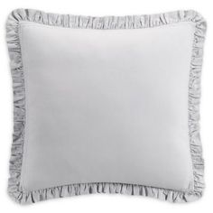 Top off your bedding ensemble for a clean and sleek look with the Bridge Street Odelia European Pillow Sham. Featuring a ruffled flange, this solid linen and cotton-blend pillow sham will add a decorative touch to your bed.