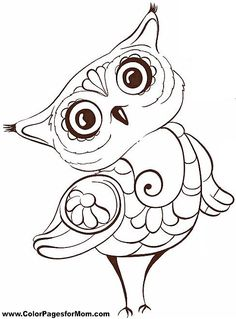 Free Printable Adult Coloring Pages - Owl Coloring Pages Printable Adult Coloring Pages, Coloring Pages To Print, Free Coloring Pages, Coloring Sheets, Coloring Books, Owl Printable, Printables, Owl Pictures, Colorful Pictures
