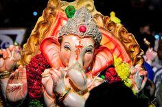 Ganesh murti during procession.