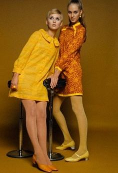 Mini dresses by Michele Rosier for Pierre d'Alby, 1967. Photo by Marc Hispard.