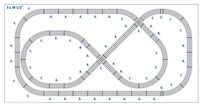 Lionel Fastrack Pretzel Loop Junction  Layout Plan