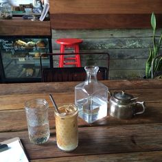 Iced latte - Pigeonhole cafe Sydney