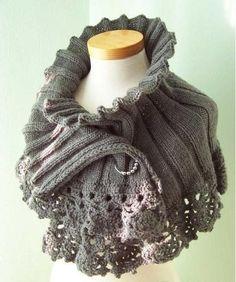 Tutorial #144: Cómo tejer un Poncho a Dos Agujas y Crochet   CTejidas [Crochet y Dos Agujas]