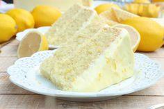 Lemon Velvet Cake Lemon Cream Cheese Frosting Homemade Cake Recipes, Cookie Recipes, Dessert Recipes, Pie Recipes, Fall Recipes, Asian Recipes, Lemon Desserts, Just Desserts, Lemon Cakes