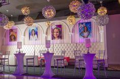 EK Productions provided the decor for this Bat Mitzvah celebration.