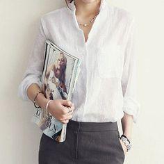 Blusas Femininas Women Blouses Linen Blouse White Shirt Plus Size Roupas Vetement Femme Woman Clothes Womens Tops S1774