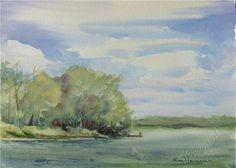ORIGINAL Watercolor Landscape by RosemarieHanssenArt on Etsy