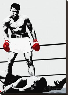 Muhammad Ali: Gloves Stretched Canvas Print at AllPosters.com