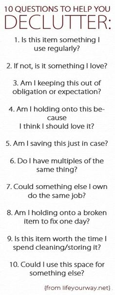 10 Questions to Help You Declutter