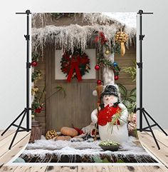 Yeele Winter Snow Covered Forest Backdrop Christmas Interior Decoration Photography Background Kids Adults Artistic Portrait 20x10ft New Year Events Photo Booth Photoshoot Studio Props Wallpaper