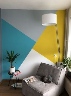 Elegant cozy living room color schemes to create a best designs 11 Elegant cozy living room color schemes to create a best designs 11 Amber Ceylon Living Room Elegant cozy living nbsp hellip Geometric Wall Paint, Geometric Shapes, Geometric Decor, Room Wall Painting, Creative Wall Painting, Wall Painting Colors, Wall Colours, Wall Paintings, Bedroom Wall Paints
