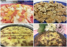Easy Breakfast Fritatta with Tyson Sausage, Peppers and Onions #DoItAllMom #cbias