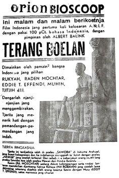 Film poster of Terang Boelan (Indonesia, Dir: Albert Balink, Cin: Joshua & Othniel Wong, 1937)