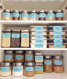 """Chicken Enchiladas Discover Retro Blue """"Bins and Containers"""" Pantry Labels Collection - Printable PDF - Kitchen Organization Kitchen Organization Pantry, Kitchen Pantry, Kitchen Hacks, Diy Kitchen, Home Organization, Kitchen Decor, Organized Pantry, Medicine Organization, Household Organization"""