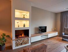 Modern Tv Wall Units, Home Reno, Living Room, House, Foyer Ideas, Tv Storage, Fireplace Tv Wall, Homes, Home