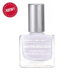 MATTE-ICULOUS Matte Base & Top Coat. This is THE BEST nail strengthener. I apply once a day and my nails have never been healthier.
