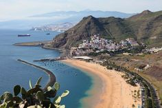 Playa de Las Teresitas, a famous beach near Santa Cruz de Tenerife in the north of Tenerife, Canary Islands, Spain