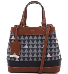 MINI TOTE TRIANGLE BLACK
