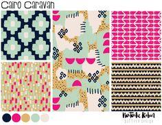 Natalie Robin Surface Pattern Design - Cairo Caravan Collection