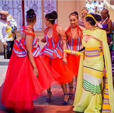 traditional wedding gowns for black girls – shweshwe - NALOADED Venda Traditional Attire, Traditional Wedding Attire, African Traditional Wedding, African Traditional Dresses, Traditional Fashion, African Wedding Attire, African Attire, African Wear, African Dress