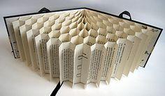 Book art. #BookArts Art Du Papier, Recycled Books, Book Sculpture, Book Design, Folded Book Art, Book Folding, Paper Book, Old Book Crafts, Book Page Crafts