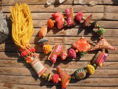 Hmong Tribal  Vintage Textile Dangle Mobile by KulshiMumkin, $12.00