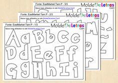 Molde de Letras e Números estilo Pokémon - Molde de Letras