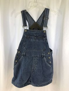 Stephen Hardy Squeeze Overall Shorts Denim Jeans Blue sz M #Squeeze #overalls