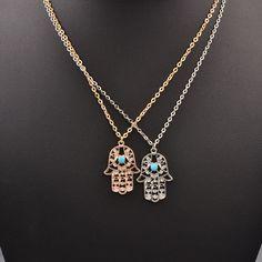 Nueva joyería de la manera diseño de la mano colgante de collar de regalo para las mujeres chica N1737