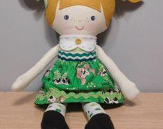 Handmade cloth doll by KuddlyKidz on Etsy