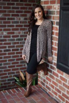 Leopard Cardigan only $32 at Lavish Boutique #leopard #cardigan