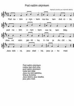 Nápadníček – písničky – ZŠ a MŠ Vír Sheet Music, Music Sheets