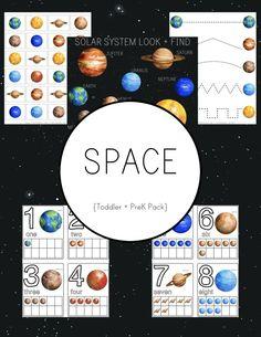 Space Preschool Pack - Free Printables