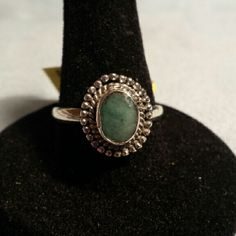Artisan Crafted Brazilian Emerald Ring. New Beautiful 1.21cts Brazilian Emerald Ring set in Sterling Silver. Jewelry Rings