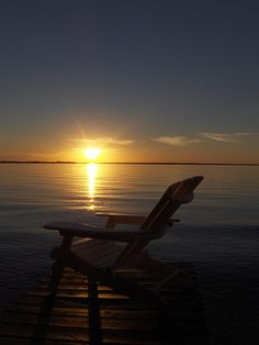 sunset at lake simcoe in ontario canada