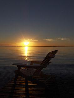 sunset at lake simcoe in ontario canada