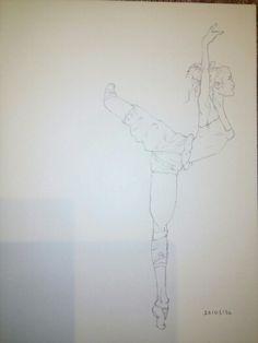 Bailarina attitude copiada al revés