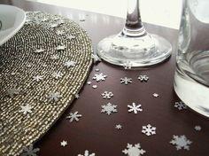 Winter Wonderland Confetti - Snowflake Table Decorations, Winter Wedding Decor