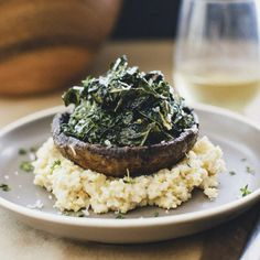Creamy Millet Mushrooms with Greens (Sprouted Kitchen)