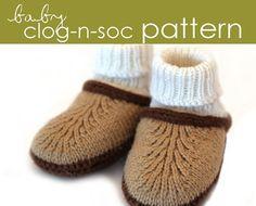 Baby Clog-n-Soc PDF PATTERN  0-3 3-6 6-12 months