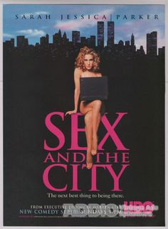 Sarah Jessica Parker Nude Print Ad Sex and the City New Series '90s HBO TV 1998    #SarahJessicaParker #HBO #1990s