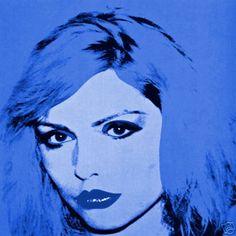 Andy Warhol blue canvas print of Debbie 1980