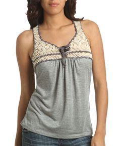 crochet yoke for T-shirt