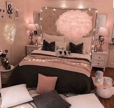 bedroom decorating ideas for teen girls decoration - dream bedroom decor tips to produce a super comfortable teen girl bedrooms. Bedroom Decor Suggestion tip posted on 20190219 Cute Bedroom Ideas, Girl Bedroom Designs, Room Ideas Bedroom, Bedroom Ideas For Small Rooms Women, Teen Room Designs, Budget Bedroom, Design Bedroom, Bedroom Ideas Rose Gold, Small Teen Room