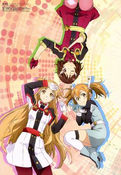 Asuna, Lizbeth and Silica || Sword Art Online Ordinal Scale