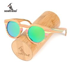 46b7536426 BOBO BIRD Colorful Bamboo Sunglasses with Polarized lenses  travel   sunglasses  bamboo  fashion. Uv400 ...