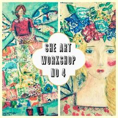 Christy Tomlinson She Art Workshop No 4 - drawing whimsical girls!