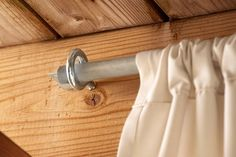 How to Make Inexpensive Curtain Rods for Your Front Porch ~ Simple Suburban Living