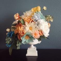 Paper flower centerpiece from Instagrammer @craftandclover